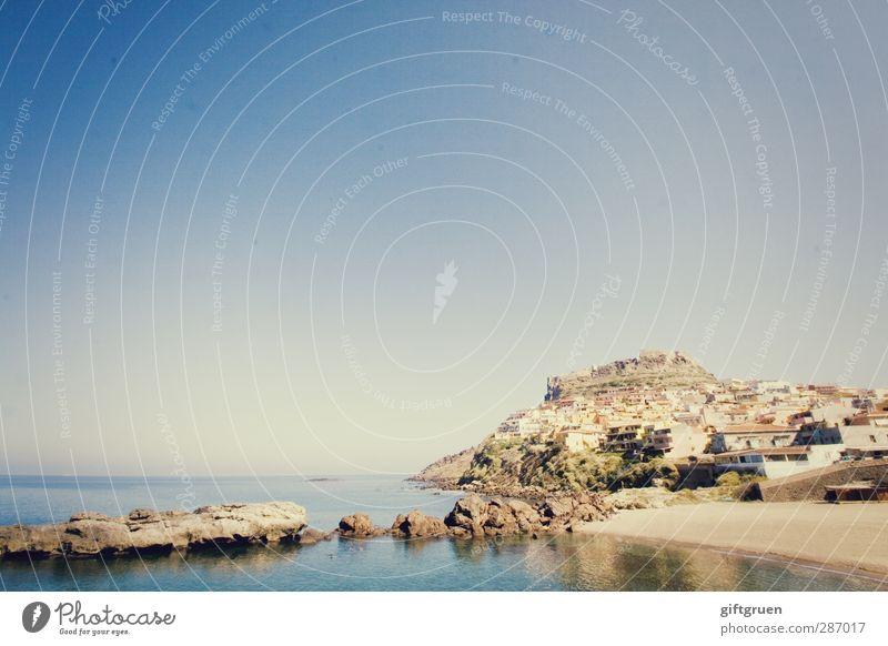 blue Natur blau Wasser Sommer Meer Strand ruhig Landschaft Haus Umwelt Küste Sand Felsen Insel Schönes Wetter Urelemente