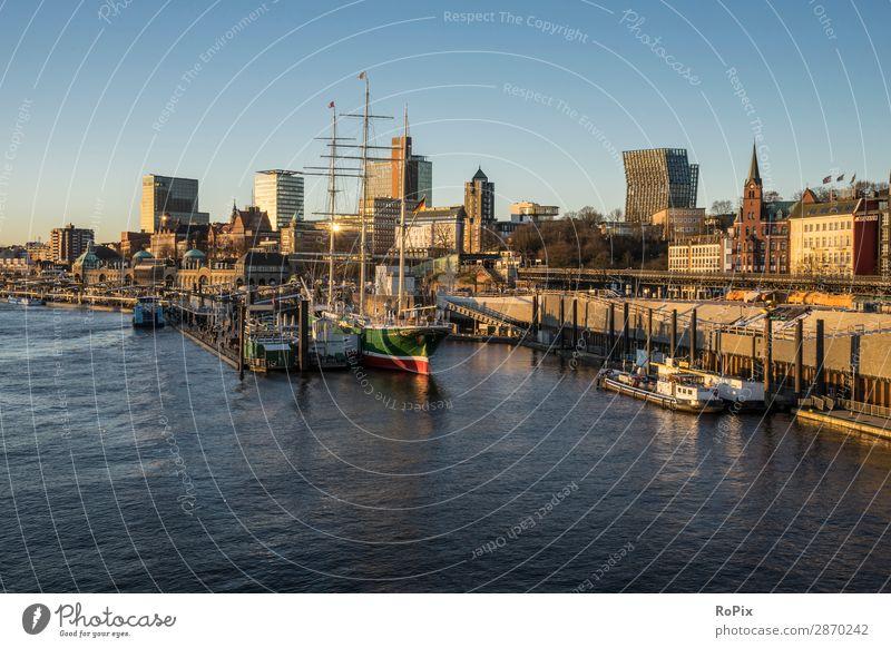 Hamburger Hafen Ferien & Urlaub & Reisen Tourismus Ausflug Sightseeing Städtereise Kreuzfahrt Meer Wirtschaft Handel Architektur Umwelt Natur Landschaft Wasser