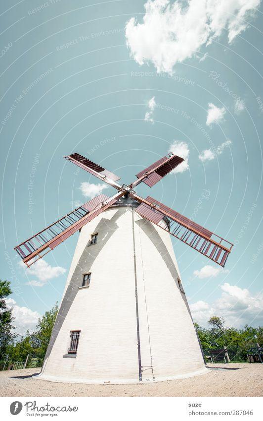 Alles Müller ... Himmel Natur blau alt Sommer Wolken Landschaft Umwelt Gebäude hell Wetter authentisch Schönes Wetter Landwirtschaft historisch Bauwerk