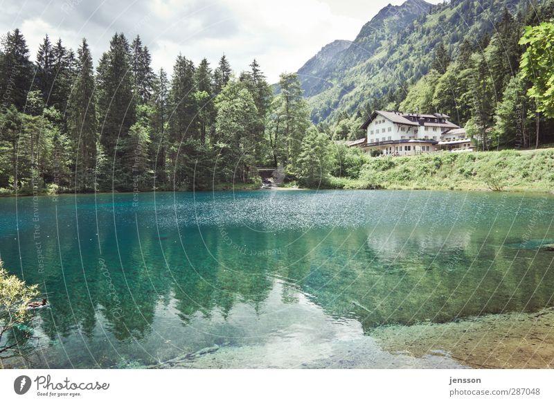 Hotel Seeblick Himmel Natur Ferien & Urlaub & Reisen Wasser Sommer Baum Sonne Wolken ruhig Landschaft Erholung Haus Umwelt Berge u. Gebirge Freiheit