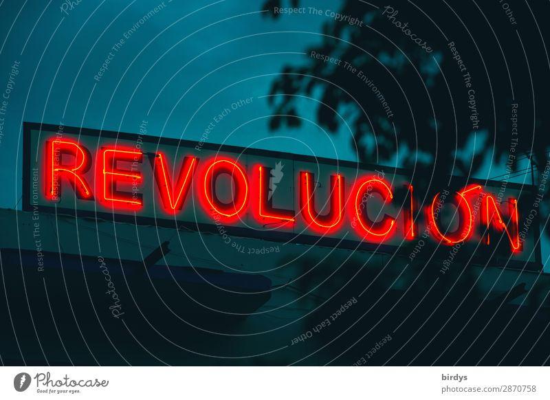 wichtiger denn je blau rot Freiheit leuchten Schriftzeichen Erfolg authentisch einzigartig bedrohlich Zeichen Hoffnung Zukunftsangst Netzwerk Mut