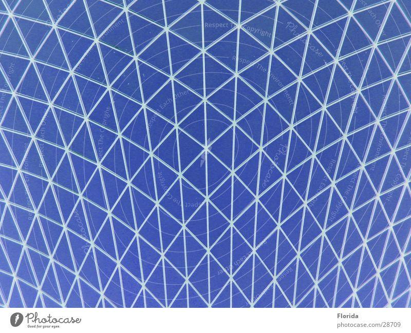 Netzwelt_2 Himmel blau Architektur Dach Netz Museum Gitter streben Kuppeldach