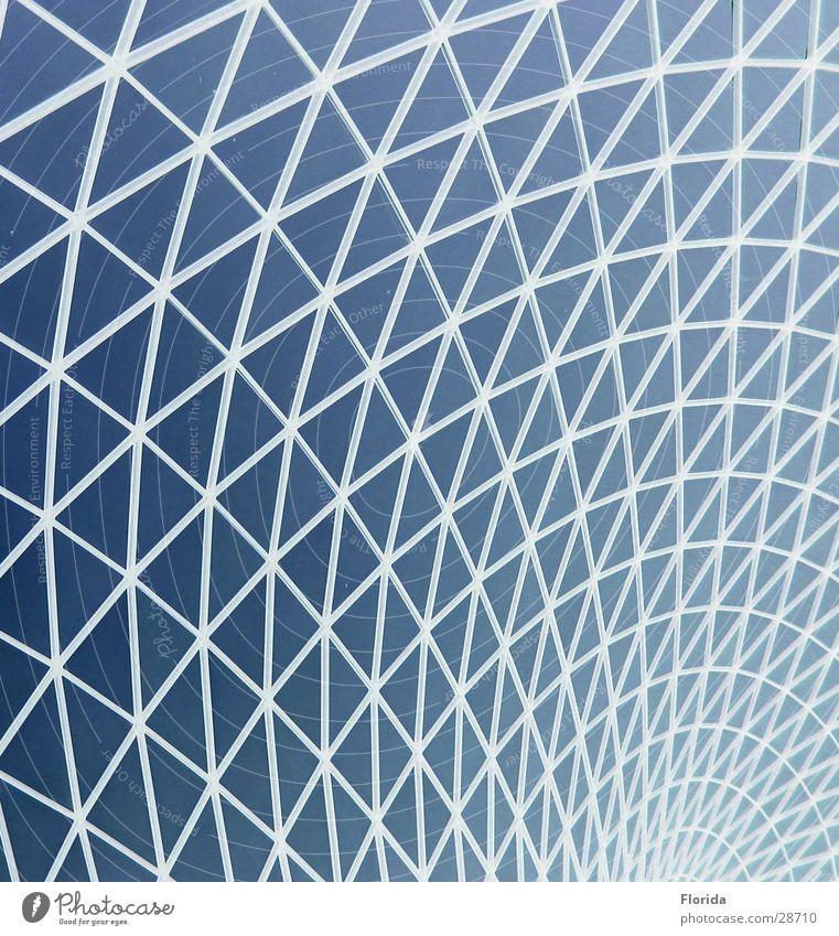 Netzwelt_1 Himmel blau Architektur Dach Museum Gitter streben Kuppeldach