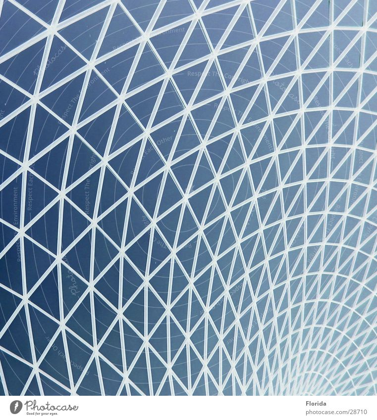 Netzwelt_1 Himmel blau Architektur Dach Netz Museum Gitter streben Kuppeldach