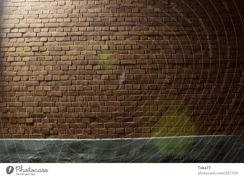 Nachtschulwand Haus Wand grau Mauer braun ästhetisch Schulgebäude Backstein