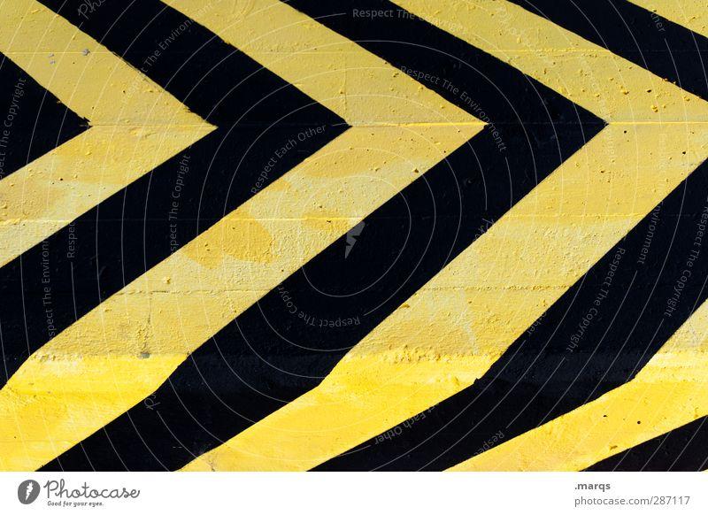 Fast Forward Stil Verkehr Zeichen Schilder & Markierungen Linie Pfeil Streifen einfach gelb schwarz Farbe Richtung Grafik u. Illustration Hintergrundbild