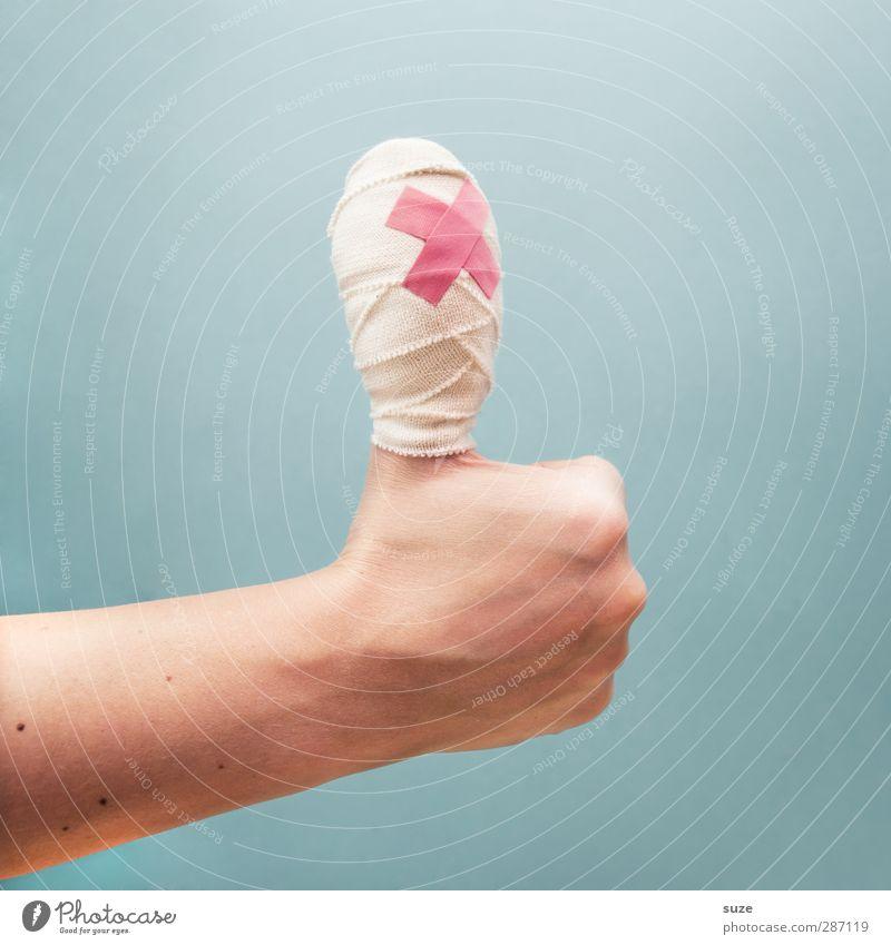 Bis einer heult ... Hand hell Business Arme Haut Finger Kommunizieren kaputt Coolness einfach Zeichen Europäer Krankheit trendy Dienstleistungsgewerbe Karriere
