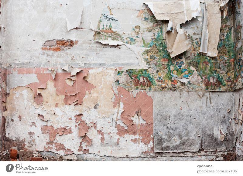 Kindheitserinnerungen Häusliches Leben Dekoration & Verzierung Tapete Raum Kinderzimmer Mauer Wand ästhetisch Partnerschaft Bildung Einsamkeit Ende einzigartig