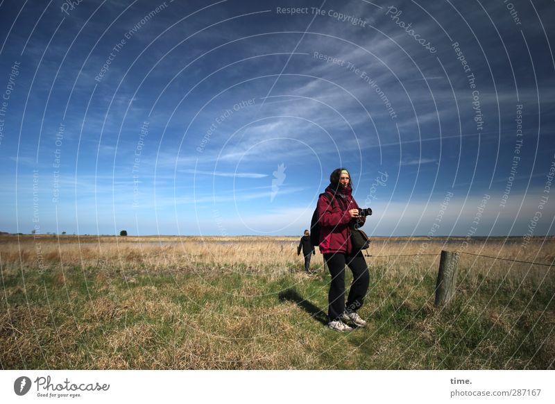 Hiddensee | Jagdgründe Mensch Himmel Natur Ferien & Urlaub & Reisen Wolken ruhig Landschaft Erholung Umwelt Wiese Leben feminin Küste maskulin Zufriedenheit
