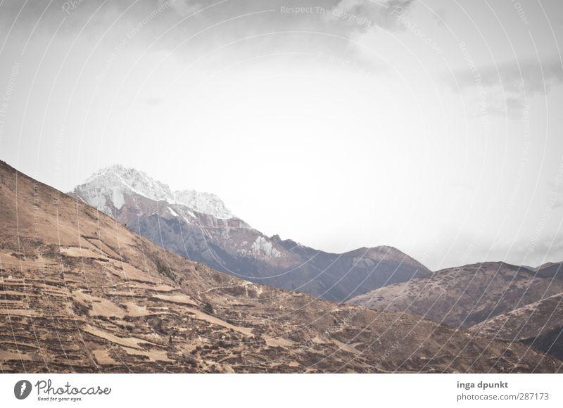 der Berg ist das Ziel! Umwelt Natur Landschaft Felsen Berge u. Gebirge Gipfel China Yunnan Abenteuer Wege & Pfade wandern Außenaufnahme Menschenleer Tag