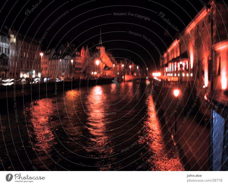 Straßburg Stadt rot Haus Europa Fluss Brücke Wasser
