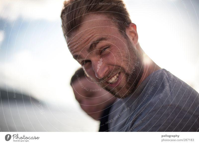 stormy weather (3) Mensch Himmel Natur Mann Jugendliche Wasser Meer Freude Wolken Erwachsene Leben Gefühle Junger Mann Glück Kopf 18-30 Jahre
