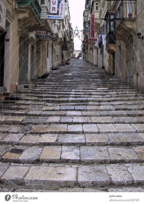 Treppe Einsamkeit Regen Hotel Gasse