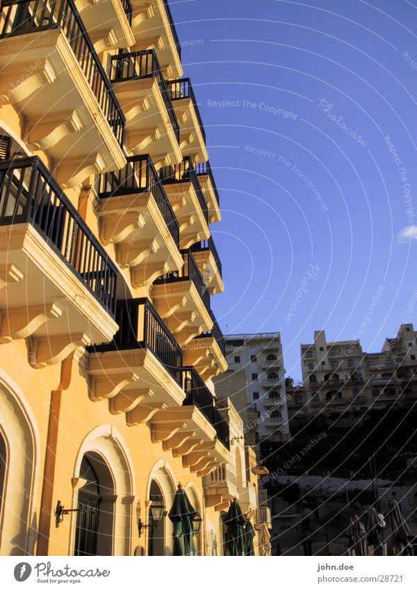 Farb-Fassade Himmel Sonne Strand Ferien & Urlaub & Reisen Haus Hotel