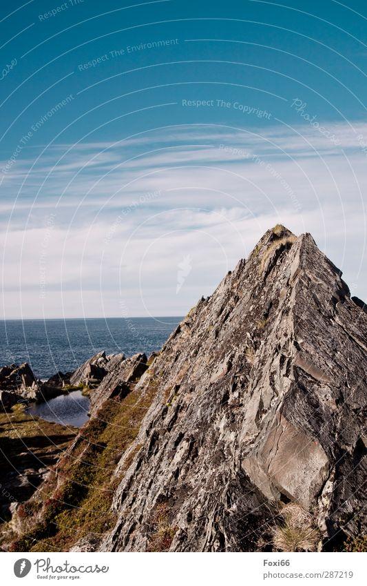 bizarr Himmel Natur blau Sommer Wasser weiß Erholung Landschaft ruhig Wolken Freude kalt Berge u. Gebirge Bewegung natürlich Küste