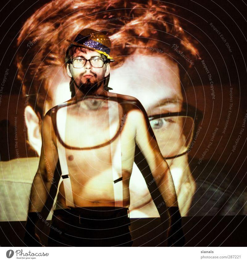 ansichtssache Nachtleben Entertainment Party ausgehen Mensch maskulin Homosexualität Mann Erwachsene 2 Puppentheater Show Brille Hut nerdig Kontrolle Spießer