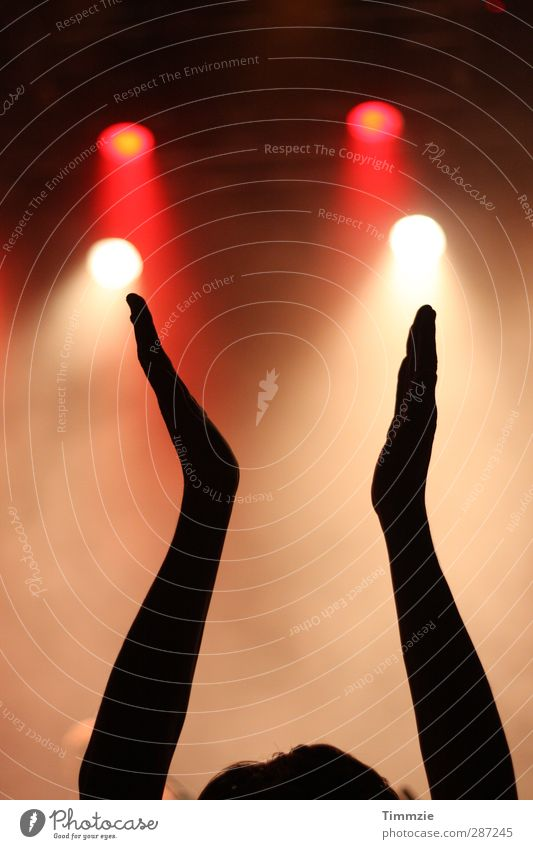 clap your hands say YEAH Jugendliche Hand Freude Erwachsene Junger Mann Feste & Feiern Party 18-30 Jahre Stimmung Musik Tanzen Arme Show Lebensfreude Disco