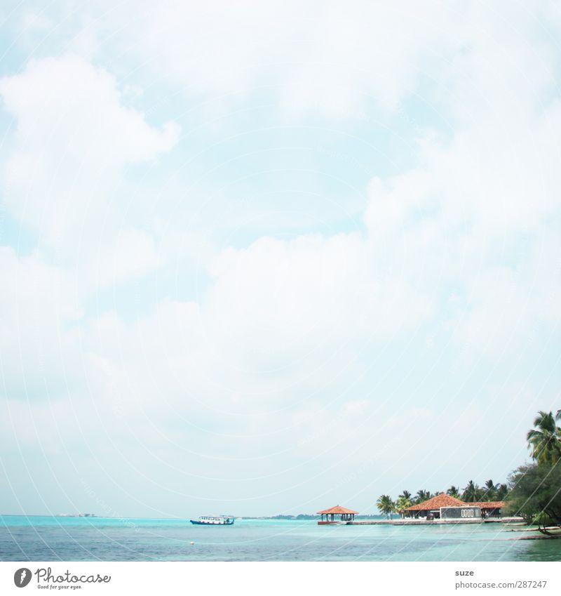 Urlaub für die Augen Himmel Natur Ferien & Urlaub & Reisen schön Sommer Meer Einsamkeit Wolken ruhig Landschaft Erholung Ferne Küste hell Luft Horizont