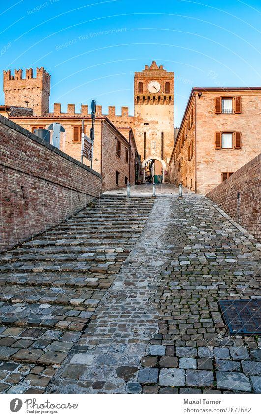 Das Tor von Gradara Tourismus Landschaft Burg oder Schloss Gebäude Denkmal Stein alt historisch Europa Italien Marche antik Baustein Bollwerk Eingang Ausgang