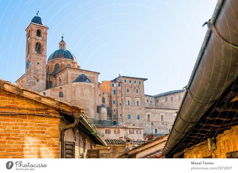 Kathedrale von Urbino Ferien & Urlaub & Reisen Tourismus Haus Studium Kultur Landschaft Stadt Kirche Palast Gebäude Architektur Denkmal Stein alt historisch