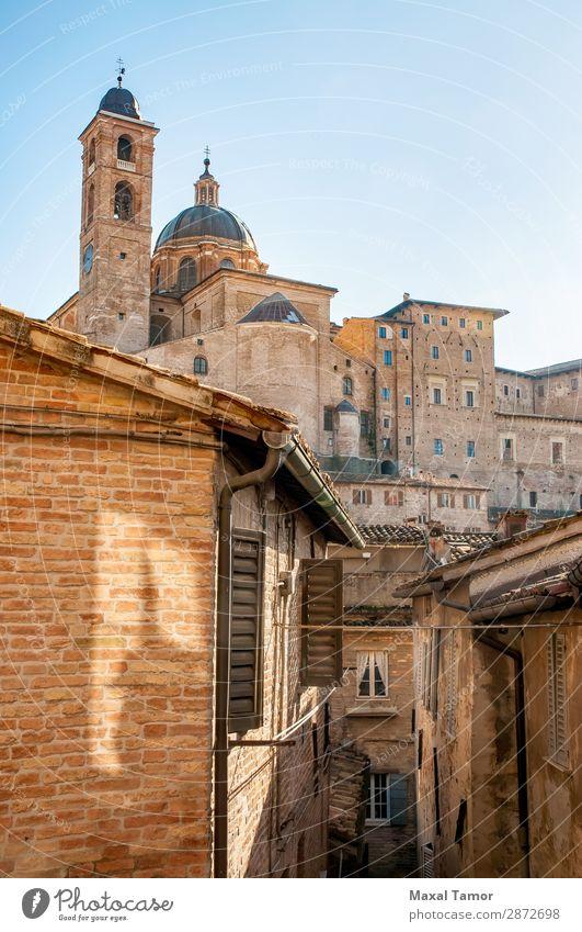 Kathedrale von Urbino Ferien & Urlaub & Reisen Tourismus Studium Kultur Landschaft Stadt Kirche Palast Gebäude Architektur Denkmal Stein alt historisch weiß