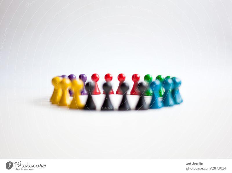 Sechs Farben - 4900 Fotos Anordnung mehrfarbig Vielfältig Figur Strukturen & Formen Formation mehrere Tiergruppe Menschengruppe Kindergruppe Konflikt & Streit