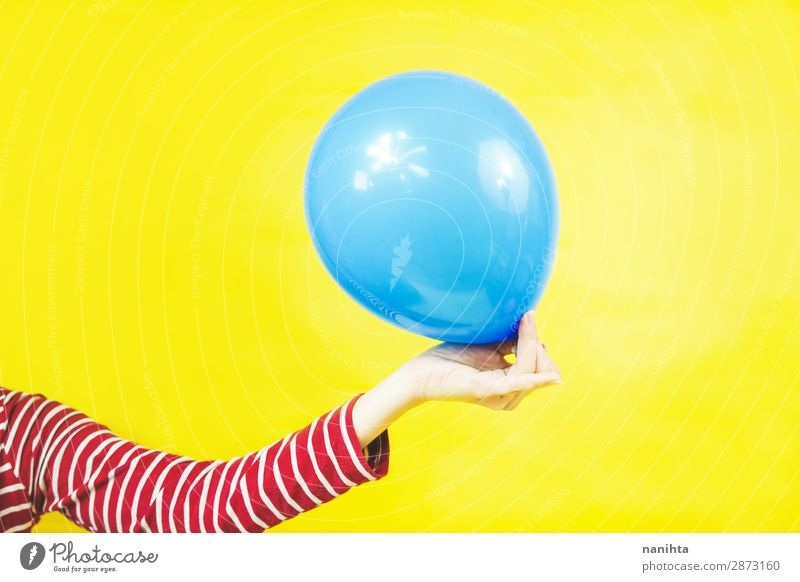 Handhalteballons Design Dekoration & Verzierung Feste & Feiern Geburtstag Kind Frau Erwachsene Kindheit Arme Kunst Luftballon Kunststoff einfach hell lustig