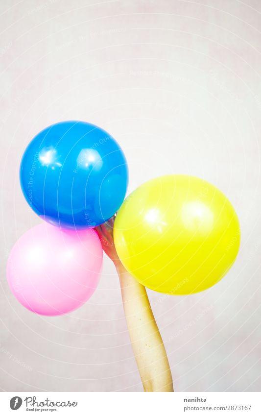 Handhalteballons Design Dekoration & Verzierung Party Veranstaltung Feste & Feiern Geburtstag Kind Frau Erwachsene Kindheit Arme Kunst Luftballon Kunststoff