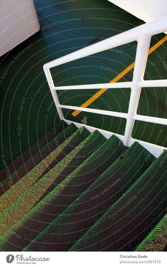 Happy Birthday Photocase, FRISA I grün weiß gelb Linie Metall Treppe Geländer Nordsee Schifffahrt Treppengeländer Fähre Verkehrsmittel Abstieg Schiffsdeck Überfahrt Norderney