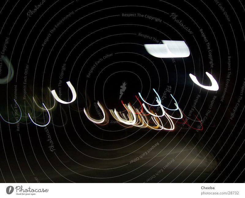 Uuuuh Ampel Licht Langzeitbelichtung Lampe Nacht Bogen