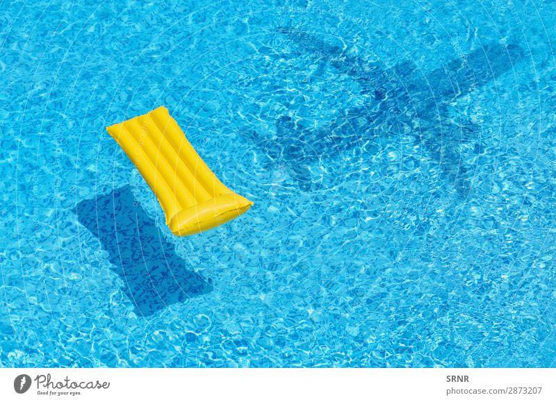 Luftmatratze Erholung Schwimmbad Freizeit & Hobby Ferien & Urlaub & Reisen Sommer Wasser Spielzeug blau Luftmatte Strandspielzeug Schwimmer Schwimmunterlage