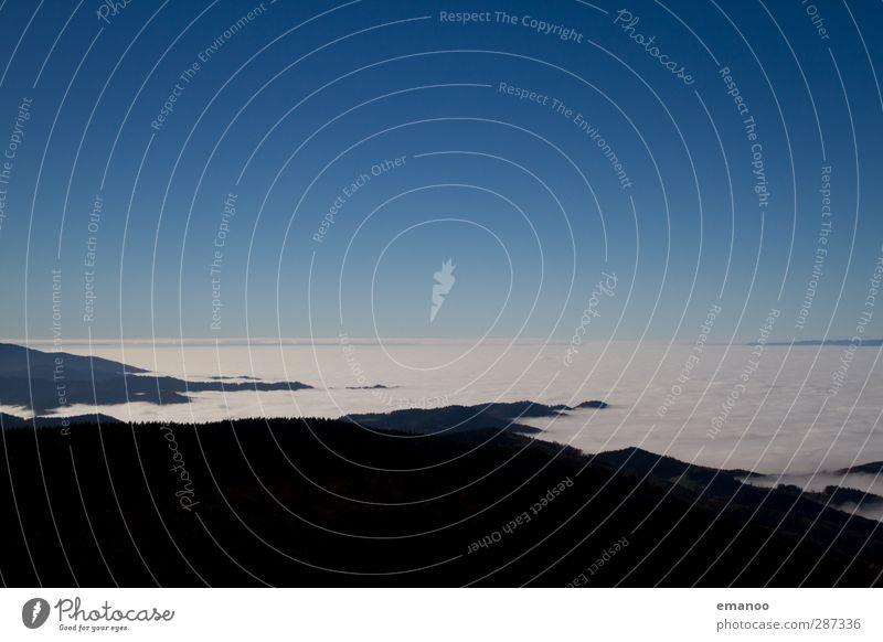 An der Nebelmeerküste Umwelt Natur Landschaft Pflanze Luft Himmel Wolken Horizont Sonne Herbst Klima Wetter Hügel Berge u. Gebirge hoch kalt blau Inversion