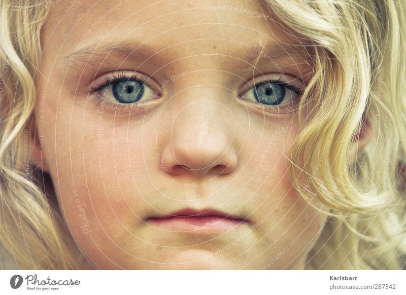 Happy Birthday, Photocase! | Kinder. Mensch Mädchen Gesicht feminin Haare & Frisuren Glück Kopf Gesundheit blond Kindheit Lifestyle lernen Bildung Locken