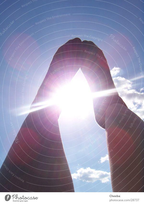bright sunshiny feet Strümpfe Wolken Wade Sommer Mensch Fuß Sonne Beine Himmel