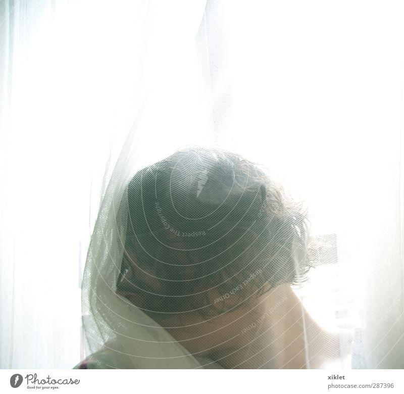 Mensch Jugendliche weiß Einsamkeit ruhig Erholung Junge Frau feminin lustig Kopf schlafen weich retro Sauberkeit Gelassenheit weinen