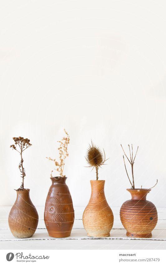 vasen mit trockenblumen Vase Dekoration & Verzierung Landhaus Stil Holztisch retro DDR Behälter u. Gefäße Keramik Ton Blumenvase Trockenblume getrocknet