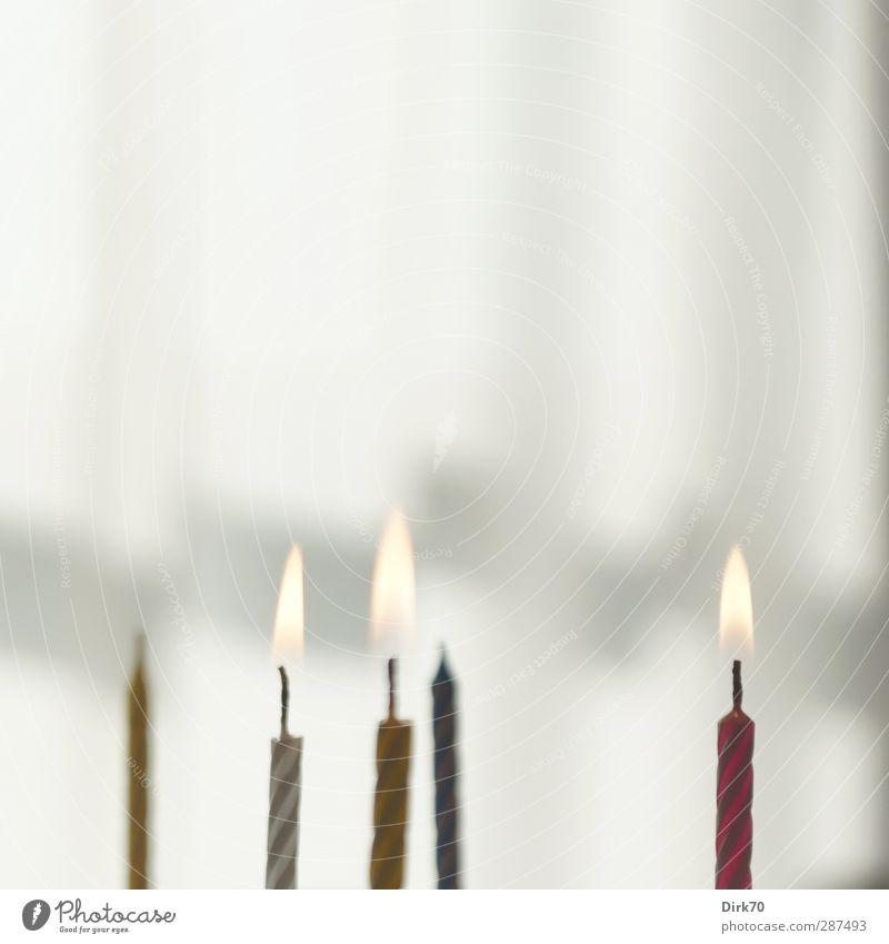 Fünf Kerzen, Photocase zum Elften ... alles Gute ! blau weiß Freude gelb grau Essen Feste & Feiern Party hell rosa Kindheit Wohnung Geburtstag Häusliches Leben