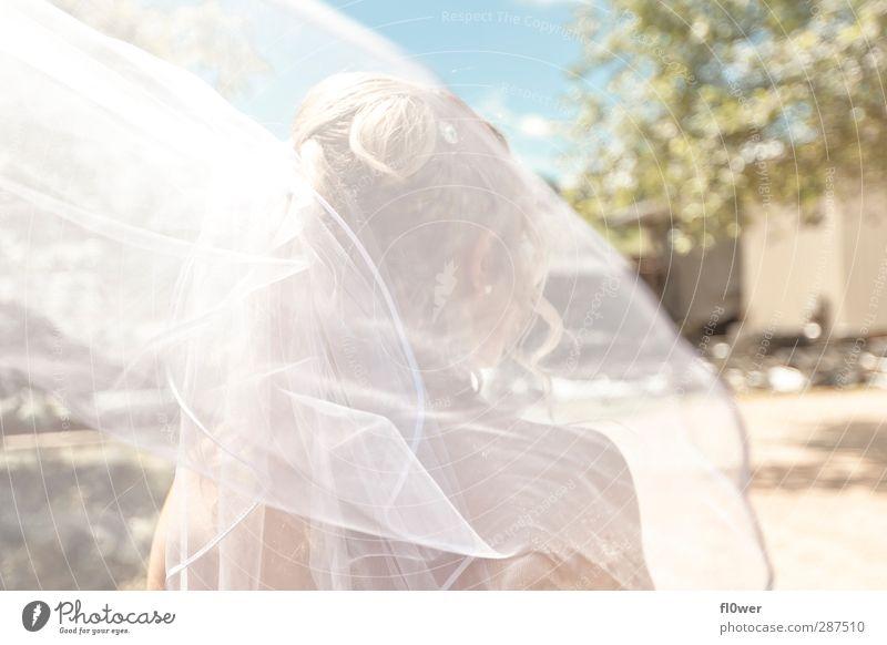 i think i wanna marry you Mensch Jugendliche schön weiß Sommer Erwachsene Junge Frau feminin Haare & Frisuren Glück 18-30 Jahre träumen elegant Hochzeit