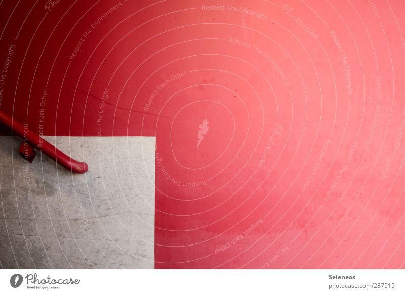 It´s time. Häusliches Leben Wohnung Haus Renovieren Umzug (Wohnungswechsel) einrichten Innenarchitektur Mauer Wand Treppe Fassade Stein Beton Linie eckig
