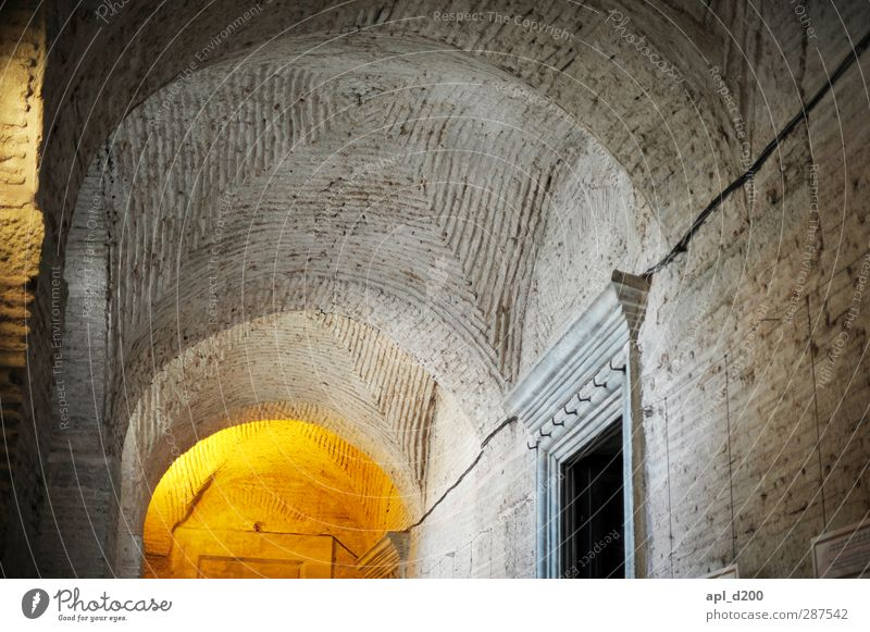Gewölbekeller alt Haus gelb Wand Senior Architektur grau Mauer Stein Kirche Bauwerk Altstadt standhaft Istanbul