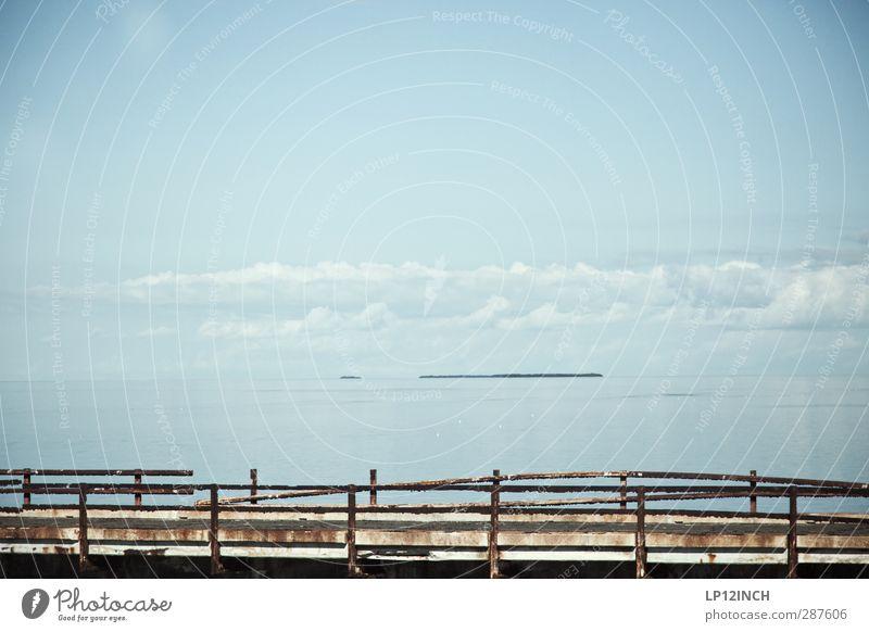 7 Mile Bridge. XXXIII Natur Ferien & Urlaub & Reisen Wasser Meer Wolken Landschaft Umwelt Angst Insel Abenteuer kaputt Brücke fahren USA erleben Florida