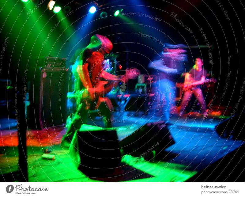 Sensefield on Stage Farbe Musik Konzert Rockmusik Scheinwerfer alternativ