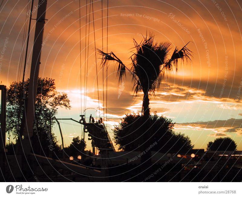 Ruhe vor dem Sturm Ferien & Urlaub & Reisen St. Tropez Cannes Nizza Sonnenuntergang orange Abend Cote d'Azur Himmel