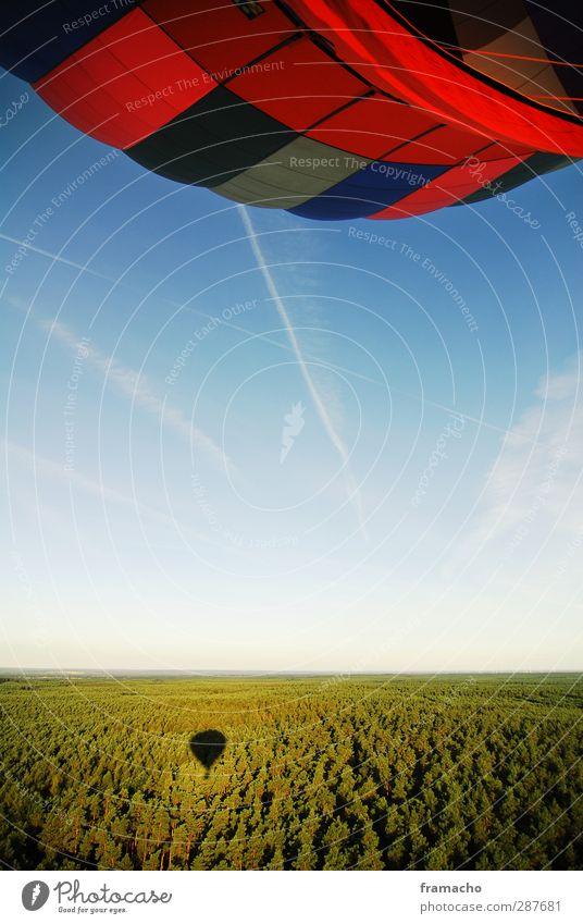 Balloon 2 Lifestyle Freizeit & Hobby fliegen Ausflug Freiheit Sommer Ballonfahrt Natur Landschaft Luft Himmel Wolkenloser Himmel Horizont Schönes Wetter Wald