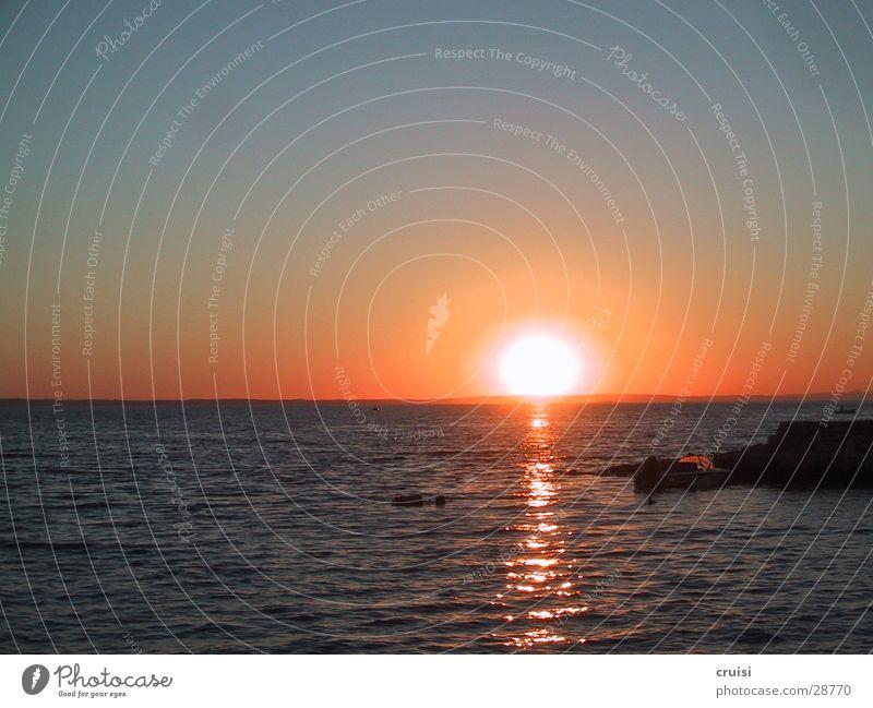 Glut Kroatien Sonnenuntergang Meer Romantik Murter Kornaten Europa Croatia Abend Wasser Cornati