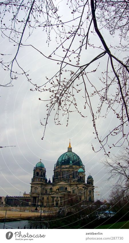 Berliner Dom Himmel Stadt Baum Wolken Winter Haus Umwelt Herbst Architektur Gebäude Wetter Klima Kirche Ast Trauer Bauwerk