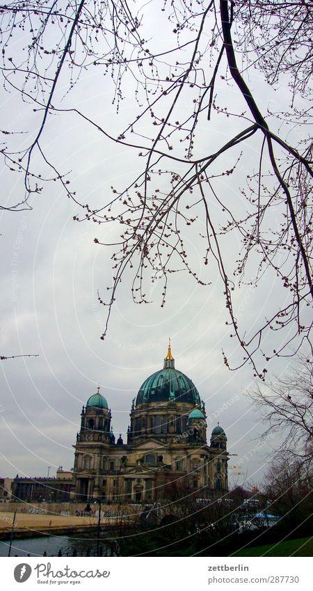 Berliner Dom Umwelt Himmel Herbst Winter Klima Klimawandel Wetter schlechtes Wetter Baum Stadt Hauptstadt Haus Kirche Bauwerk Gebäude Architektur
