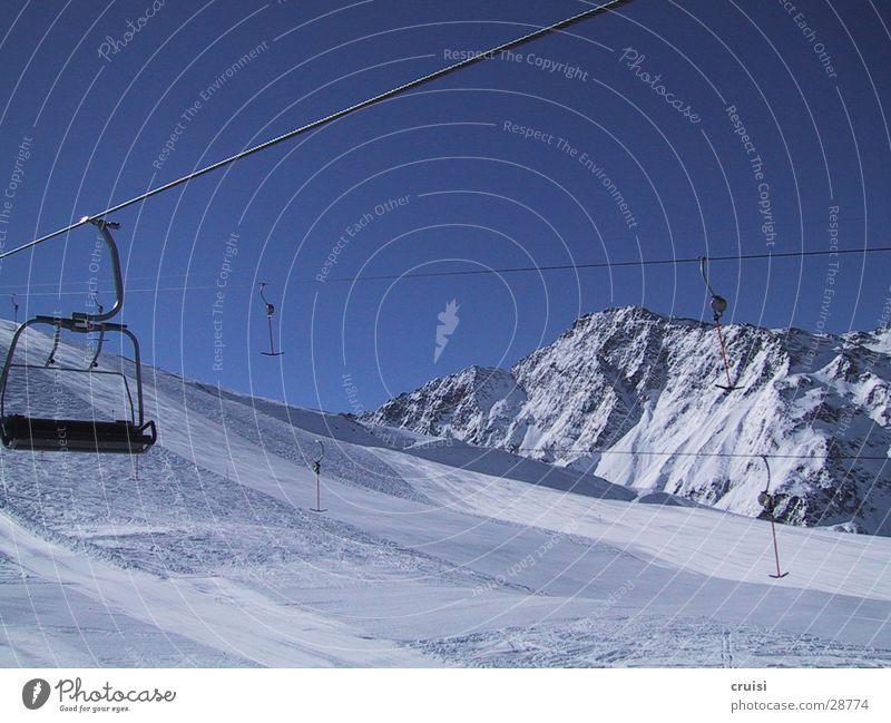 St. Jakob Skigebiet weiß Einsamkeit Winter Ferien & Urlaub & Reisen Winterurlaub Europa Schnee Skipiste Ferne Natur Himmel