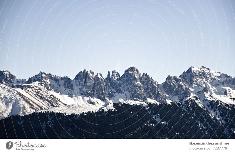 jetz aber zackig! Ferien & Urlaub & Reisen Tourismus Ausflug Abenteuer Ferne Winterurlaub Berge u. Gebirge Umwelt Natur Landschaft Wolkenloser Himmel Klima