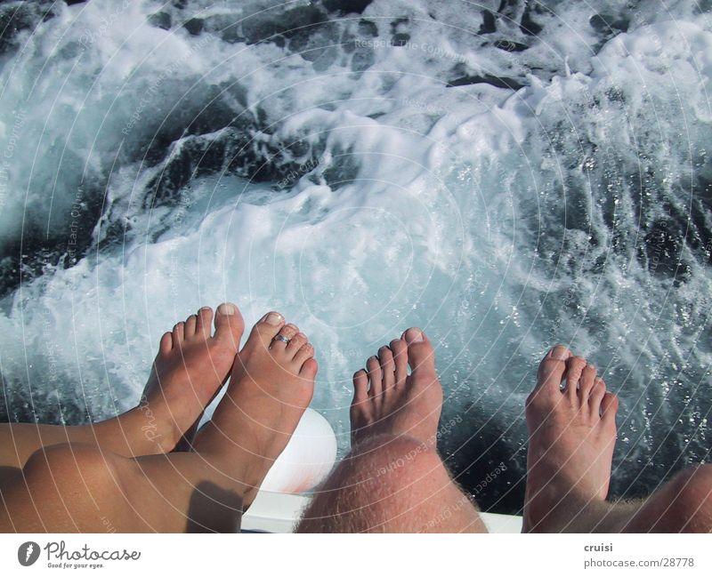 Fussgebaumel Wasser Fuß Wasserfahrzeug Schifffahrt Zehen Kroatien Gischt Kornaten